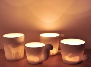Zakka杂货 动物森林的奇幻之旅 动物杯 陶瓷杯 马克杯 水杯,杯子,