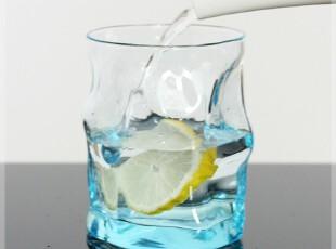 意大利进口 透明波浪玻璃杯 果汁杯 创意彩色水杯 情侣杯子 热销,杯子,