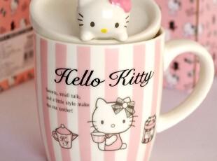 特价!销量过百!Hello Kitty卡通猫头杯盖陶瓷杯牛奶杯办公水杯子,杯子,