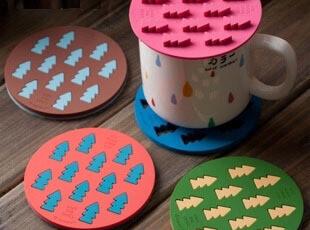 糖果色森林杯垫杯盖多用套装 橡胶隔热垫 zakka日式杂货,杯子,