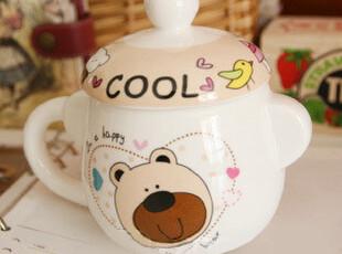 带盖立体杯子爱情熊杯骨瓷杯子韩国早餐创意杯子情侣杯礼物礼品,杯子,