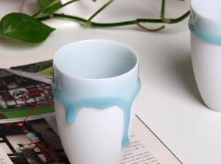 ELNEE倾城之泪 手工创意陶瓷水杯/青釉流动可爱杯子/情侣对杯礼品,杯子,