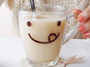 促销 小清新 玻璃牛奶杯 奶茶杯 水杯 玻璃杯 冷水杯,杯子,