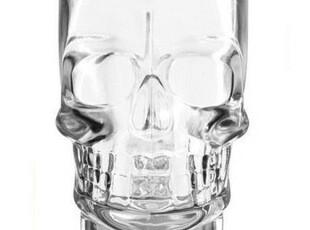 骷髅伏特加酒杯 极品创意 超大手工吹制骷髅杯 玻璃杯水杯 啤酒杯,杯子,