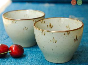 素朴/山田烧日式和风手绘陶瓷小茶杯 杯口小碎花纹 可做小花盆,杯子,