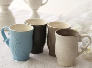 绘生活 陶瓷杯子 水杯茶杯 牛奶杯 四色可选马克杯 蕾丝古典1553X,杯子,