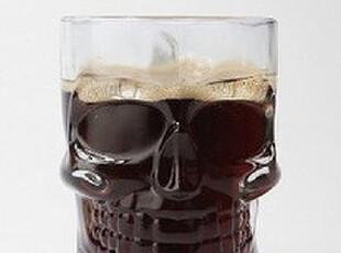 美国进口 urbanoutfitters Skull SteinGlass骷髅杯现货 杯杯a,杯子,
