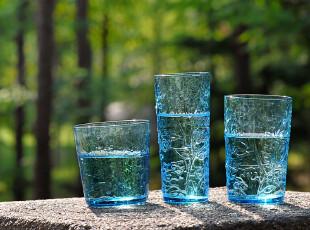美璃 【3只装套杯】篱笆花玻璃水杯/欧式彩色杯子/创意个性水杯,杯子,