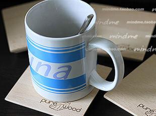 ZAKKA简约宜家风 原木方形小杯垫子 日式欧式创意碗垫 外贸木色垫,杯子,