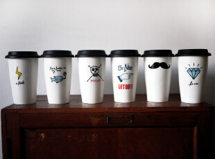 YiZi 嬉皮士系列双层杯→6款可选~,杯子,