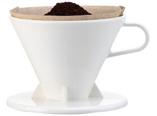正品Tiamo锥形虑杯 日式冲杯 商务咖啡冲杯 白色 送量勺 1-4人份,杯子,