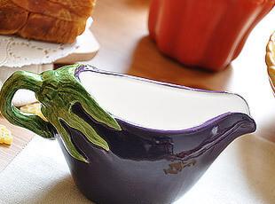 可爱陶瓷 茄子?毯? 奶杯,杯子,