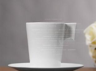 北欧表情/MUJI风格/马格瑞特纯白顶级骨瓷高杯咖啡杯套装,杯子,