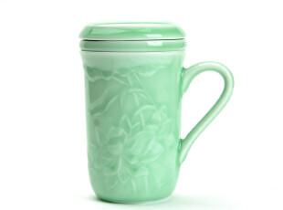 JP3262 龙泉窑 青瓷茶杯 荷花同心杯,杯子,
