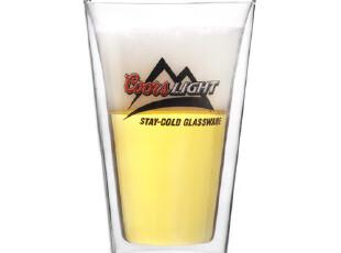 doris 518 双层啤酒杯 玻璃杯 隔热杯 大容量450ml,杯子,