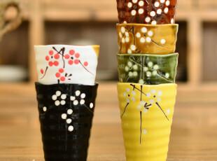 奇居良品 陶瓷茶具茶杯子水杯藤编礼盒套装 樱花杯 【7折】,杯子,