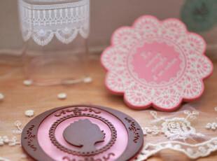 zaa杂啊 花与爱丽丝 欧式可爱小清新蕾丝杯垫 隔离垫 2款选,杯子,