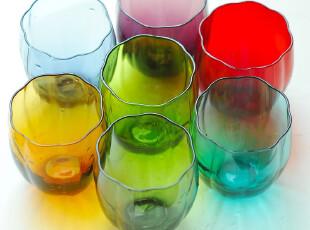 美璃【7色任选】南瓜玻璃凉水杯/个性创意杯子/彩色欧式果汁杯,杯子,