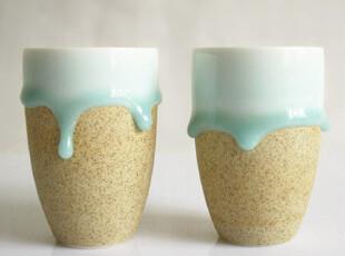 【雅集堂】手工绝美 青釉陶艺杯 随手杯 青瓷杯 幸福泪滴 单个价,杯子,