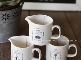 INCAFE |陶瓷量杯 复古陶瓷牛奶杯 陶瓷杯 刻度杯 日单ZAKKA 杂货,杯子,