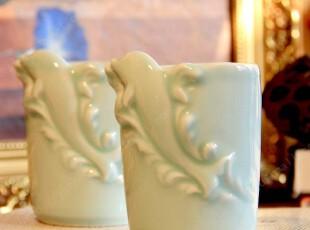 水杯 陶瓷 影青瓷手工水杯 随手杯 海豚杯 创意水杯,杯子,