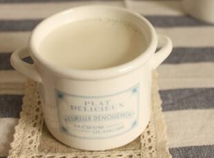 【特价】迷你双耳牛奶锅 陶瓷 布丁杯 牛奶杯 容量150毫升 ZAKKA,杯子,