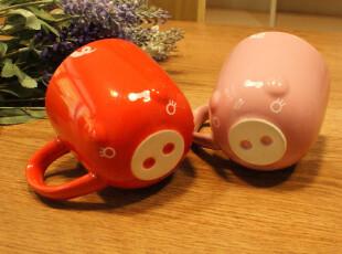 左米生活 ZAKKA牛奶早餐杯马克杯陶瓷杯水杯咖啡杯 猪造型杯,杯子,