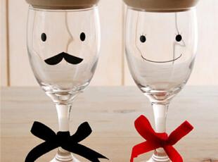 「韩居屋」王与王后情侣红酒杯..韩国进口可爱卡通香槟杯 PU039,杯子,