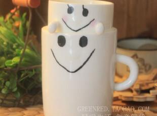 瓷为你来 背负幸福 早餐杯 亲子杯 一对售,杯子,
