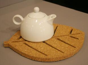 Fers' 环保无味软木树叶形杯垫 锅垫 碗垫 隔热垫 厨房用品 2款,杯子,