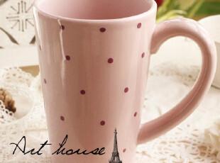 出口欧美水玉波点外贸手绘陶瓷杯子 水杯 马克杯 茶杯 咖啡杯奶杯,杯子,