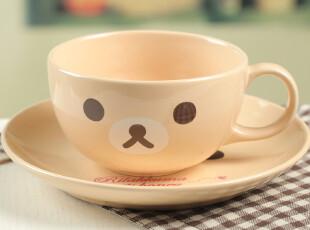 【批发】7-1 超可爱 轻松熊 咖啡色小熊带盘套杯 咖啡杯,杯子,