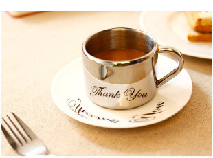 丹麦PO: 倒影杯\咖啡杯\茶杯 感谢(thank you),杯子,