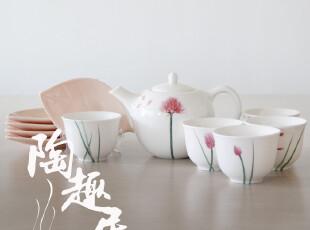 井上绘美La Amys 蒲公英套装陶瓷茶具 一壶五杯五碟  AM20-TS114,杯子,