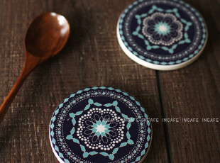 INCAFE |日单陶土杯垫 复古繁花餐垫 杂货 ZAKKA 茶垫(推荐!),杯子,