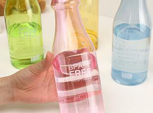 「沽奇汇」韩版可爱防漏便携学生密封随身水杯 汽水瓶杯 运动水壸,杯子,