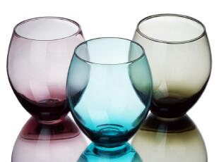 WUSE 可爱O型杯 彩色玻璃杯 凉水杯 饮料杯 果汁杯 可乐杯 特惠,杯子,