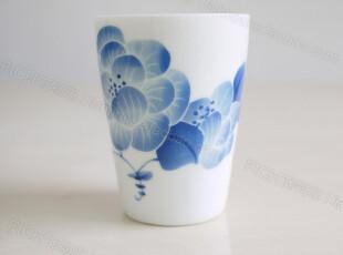 饰物志|水墨青花牡丹 马克杯子 茶器 单杯 手制陶瓷 日用生活陶瓷,杯子,
