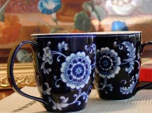 五折 景德镇青花瓷 陶瓷水杯 咖啡杯 奶杯 大容量体积 陶瓷杯,杯子,