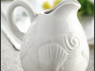 外贸陶瓷 地中海风 做旧浮雕纹 海螺与贝壳 小奶杯,杯子,