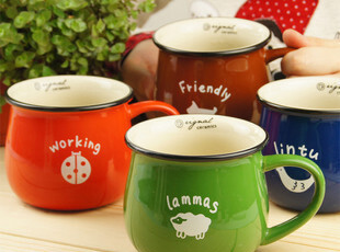 5折创意马克杯水杯杯子ZAKKA动物早餐杯陶瓷杯咖啡杯奶杯牛奶杯,杯子,