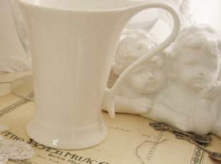 出口欧美纯白陶瓷水杯  优质 骨瓷 杯子 咖啡杯 马克杯 牛奶杯,杯子,