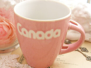 出口欧美手绘PIN**色陶瓷水杯 彩釉杯 咖啡杯 马克杯 陶瓷 杯子,杯子,