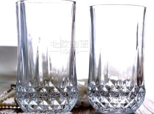 【北欧宜家】雪莉尔透明玻璃酒杯 水杯茶杯啤酒杯饮料杯 质感高杯,杯子,