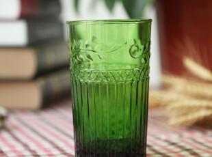 玻璃杯子 复古 创意透明啤酒杯 手工浮雕杯 办公室随手水杯,杯子,