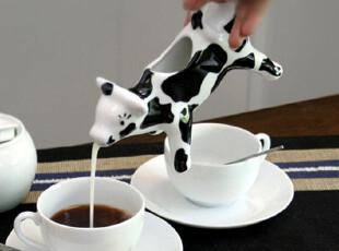 奶牛造型 创意欧式奶牛奶罐/调味杯/陶瓷咖啡调味杯/奶精罐,杯子,