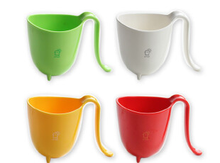 普达海 清新酷杯 塑料水杯子 可爱创意弯柄 情侣杯 情侣礼物,杯子,