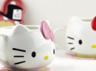 新款原单hello kitty立体杯 陶瓷马克水杯子 创意可爱大头KT杯,杯子,