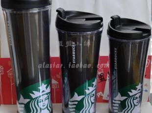 星巴克 Starbucks限量 40周年新Logo黑色经典随行杯 8/12/16/20oz,杯子,