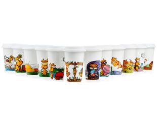 Homee星巴克十二星座 带盖陶瓷双层杯 情侣咖啡杯,杯子,